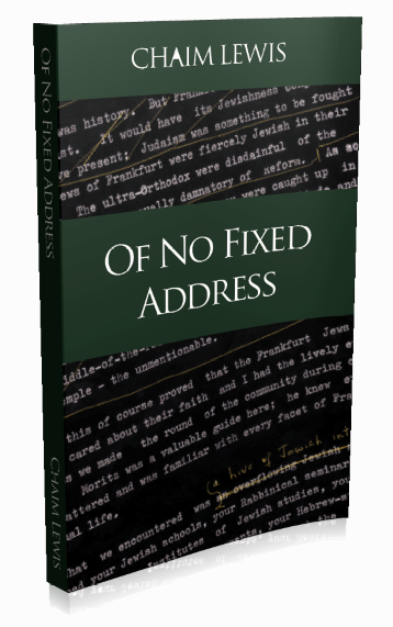 Book design (cover) of the book Of No Fixed Address