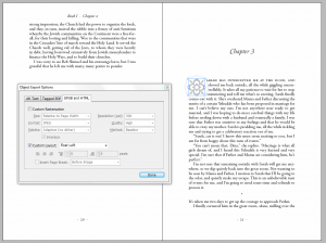 Screen cap of InDesign Chapter Opening with Ornament